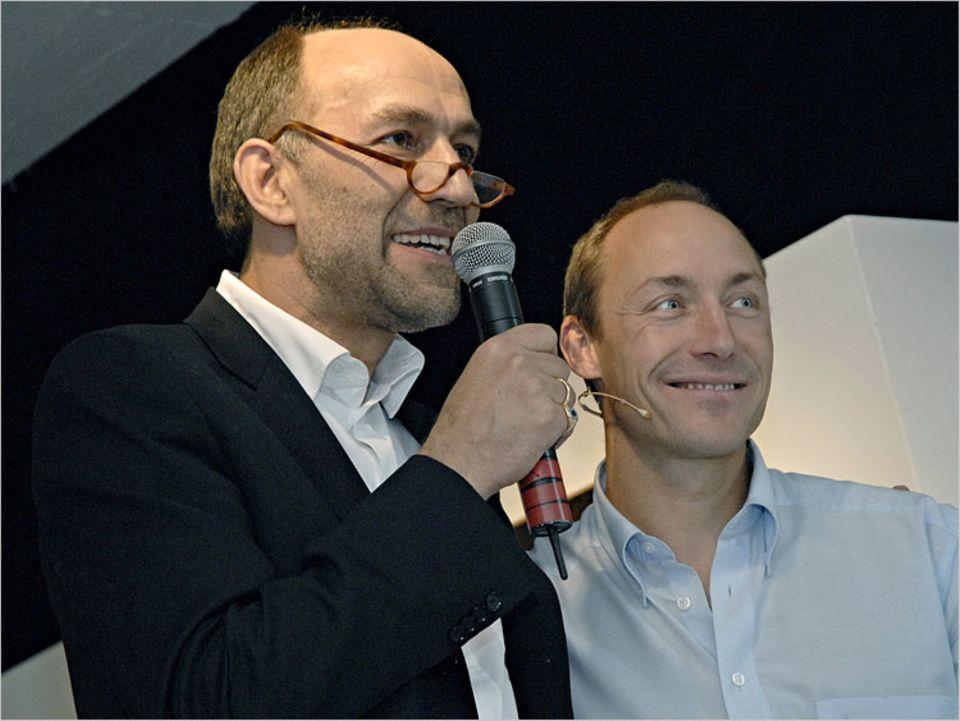 Peter-Matthias Gaede sprach zur Eröffnung der Fotoausstellung von Manuel Bauer