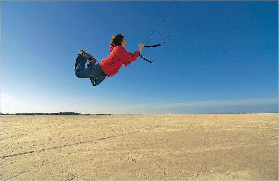 Der akrobatische Abflug ist nur etwas für Könner