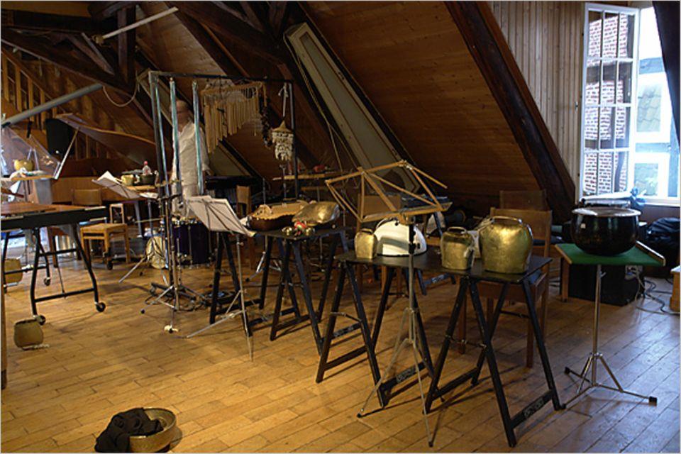 Musik: So viele tolle Instrumente! Gleich findet hier ein Konzert statt