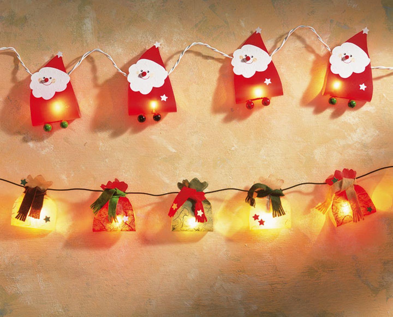 Bastelanleitungen: Weihnachtsmann-Lichterkette