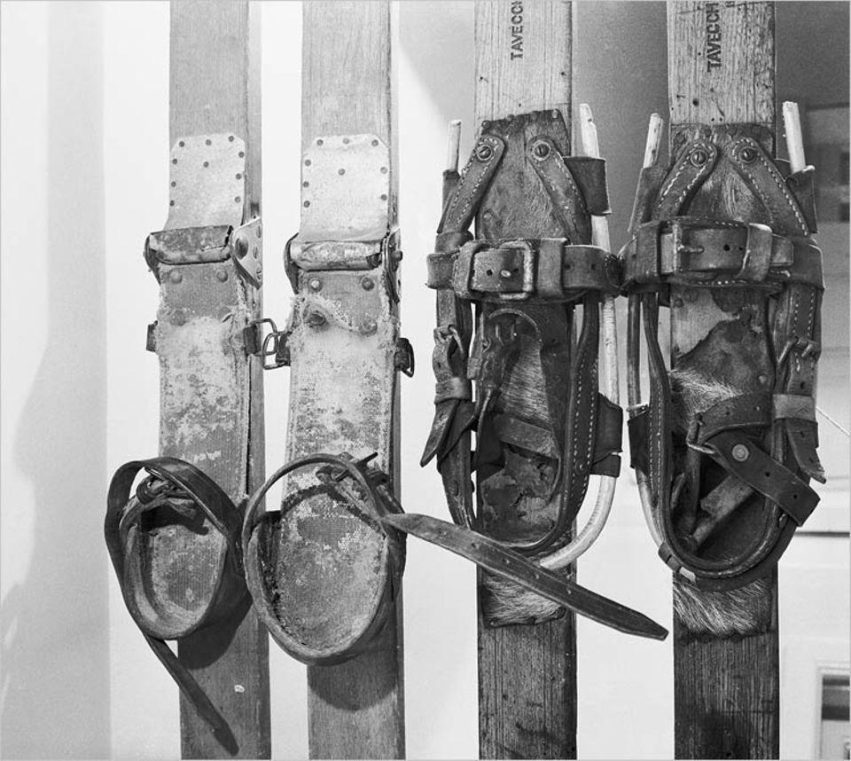 """Skifahren: Meist besteht der Kern des Skis aus Holz. Mit den anderen """"Zutaten"""" wird er in eine Form gelegt, mit Kunstharz verklebt und in den Ofen geschoben und bei 115 Grad Celsius """"gebacken"""""""