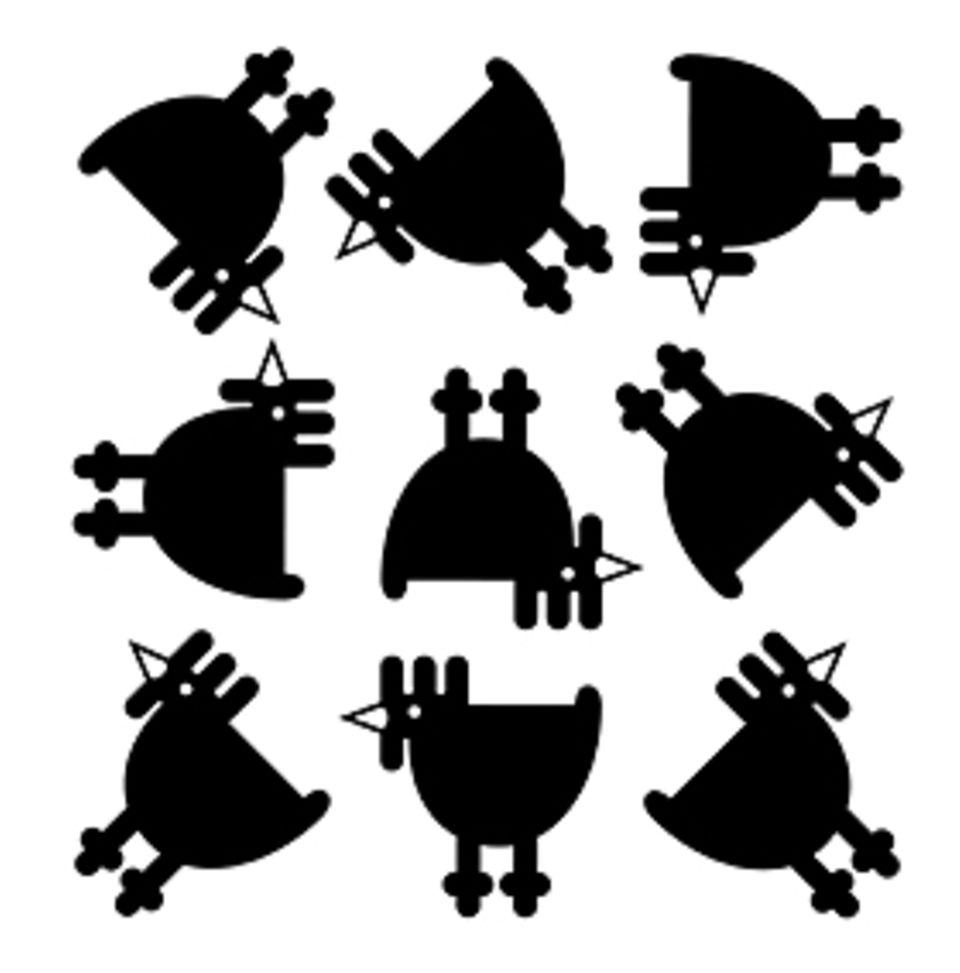 Das Gehirn: Welches Huhn passt nicht zu den anderen? Mit Bildknobeleien wie dieser versuchen Forscher, das Denkvermögen zu messen (Lösung: rechts unten)