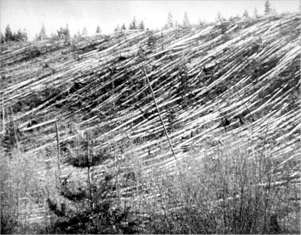 Auf einer Fläche fast so groß wie das Saarland streckte die mächtige Druckwelle mehr als 80 Millionen Bäume hin. Die geheimnisvolle Explosion, so errechneten Wissenschaftler, hatte die Energie von 1000 Atombomben des Hiroshima-Typs