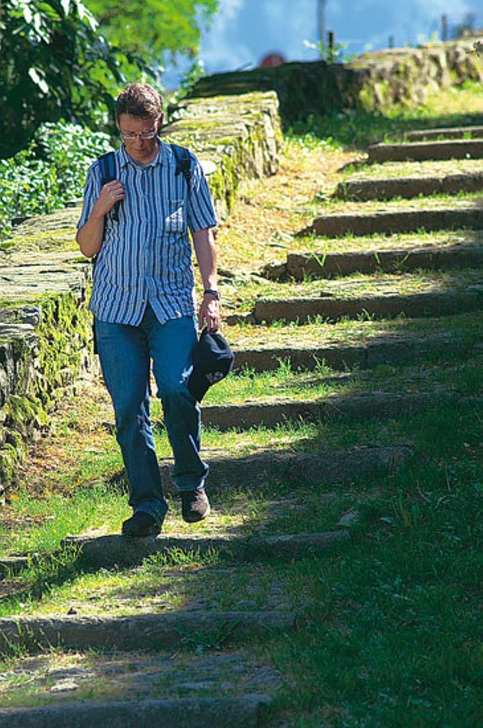 """""""Wandern"""", sagt Thomas Widmer, """"ist ein Teil meines Lebens, der mich glücklich macht."""""""