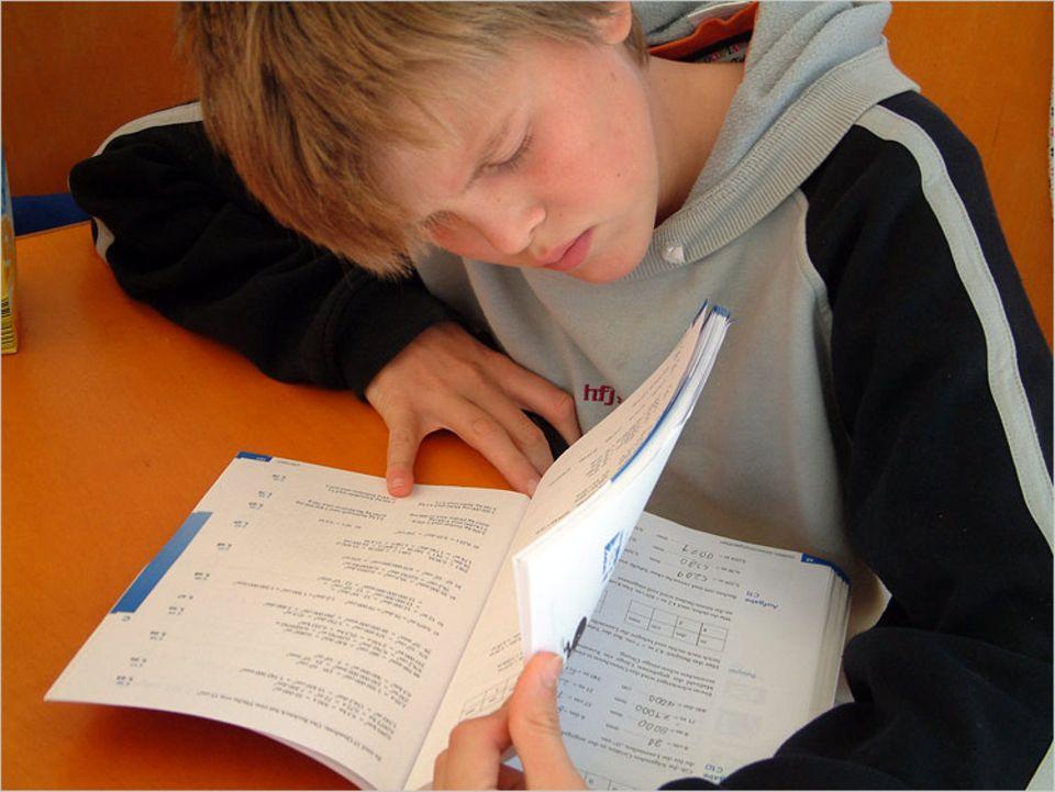 Lernen kann man auch auf dem Meer - vier bis fünf Stunden pro Tag haben die Brüder Unterricht bei ihren Eltern