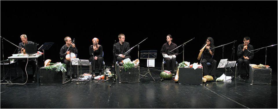 Hochsensible Mikrofone machen im Studio und auf der Bühne die Gemüsemusik hörbar