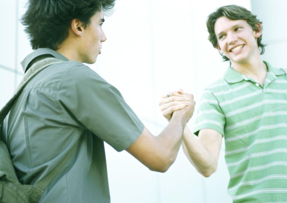 Redewendung: Richtige Freunde geht zusammen durch dick und dünn