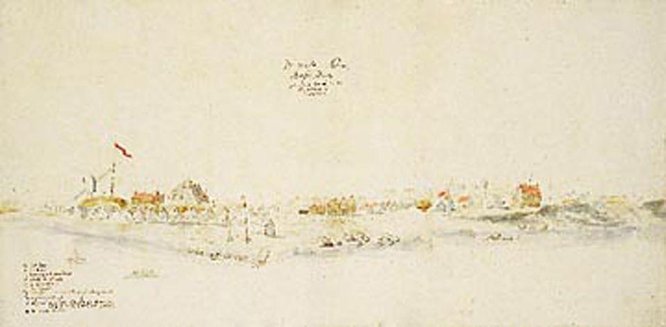 New York 1625-1945: Verfallene Häuser, düstere Straßen, menschenleeres Ufer: Zeigt das 1991 in Wien aufgetauchte Bild die Stadt Nieuw Amsterdam so, wie Stuyvesant sie einst gesehen hatte?