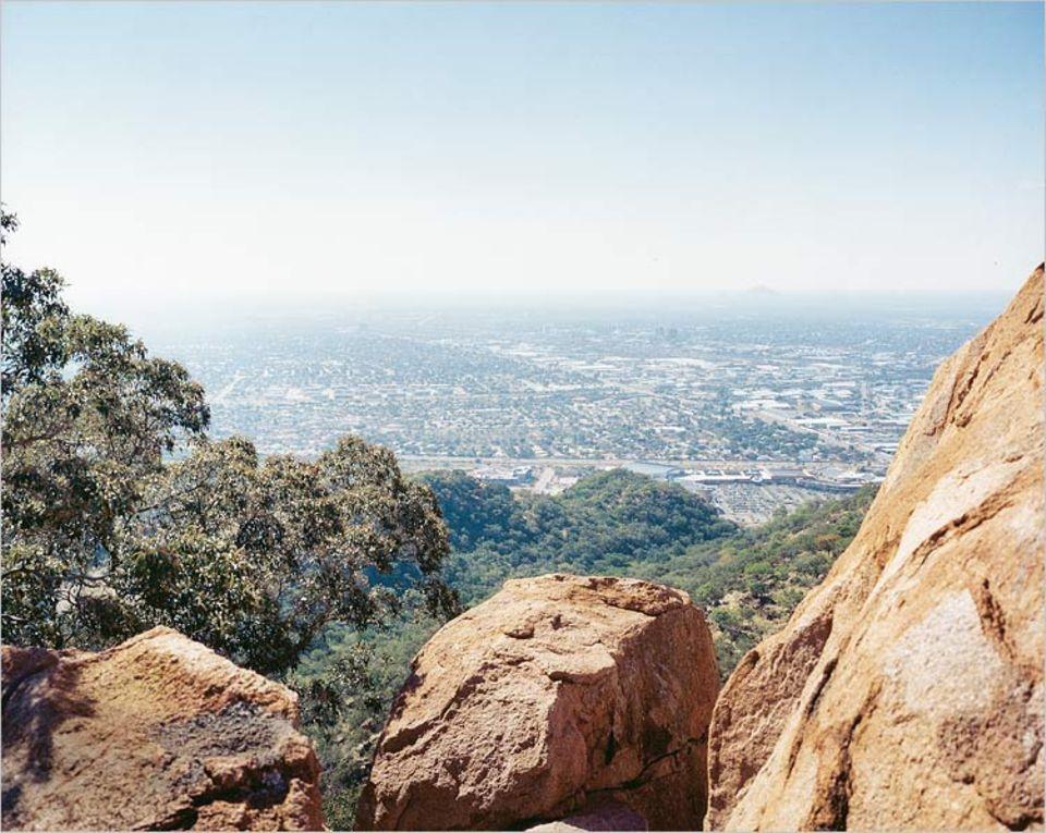 Blick vom Kgale Hill, mit 1249 Metern der höchste Punkt Gaborones