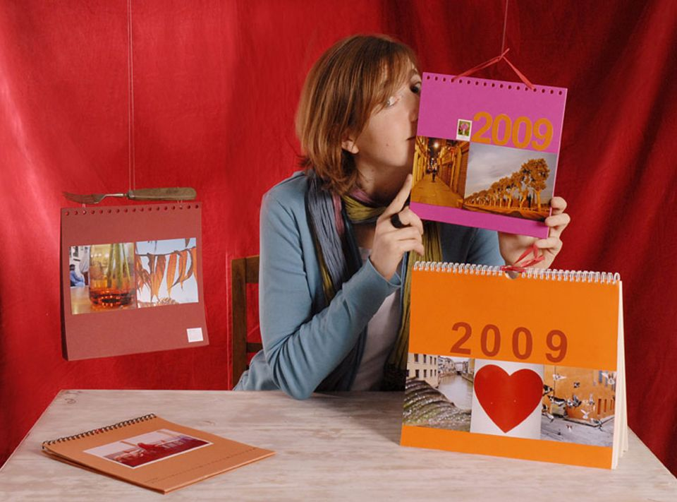 Bildredakteurin Eva Pradel verschenkt jedes Jahr tolle und abwechslungsreiche, selbstgemachte Kalender - mit selbstgemachten Fotos, versteht sich