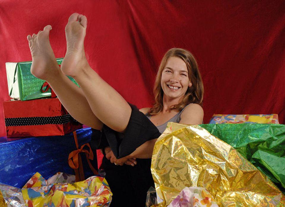 in der Familie von Bildredakteurin Berit Brandes wird nach dem Weihnachtsschmaus gerannt: barfuß um den Pflaumenbaum!