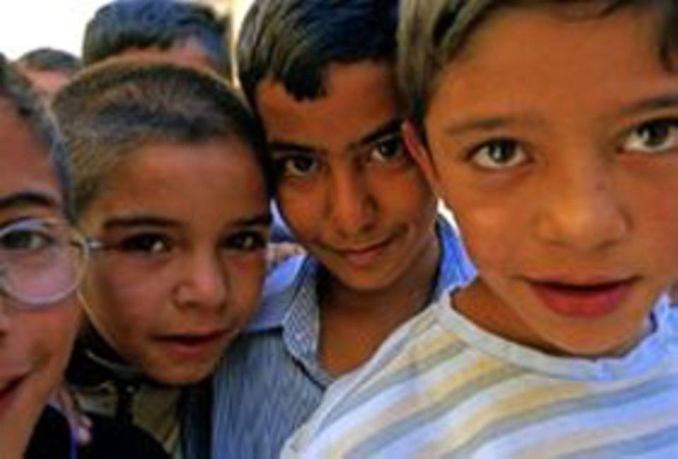 Schönes Motiv: Jordanische Kinder