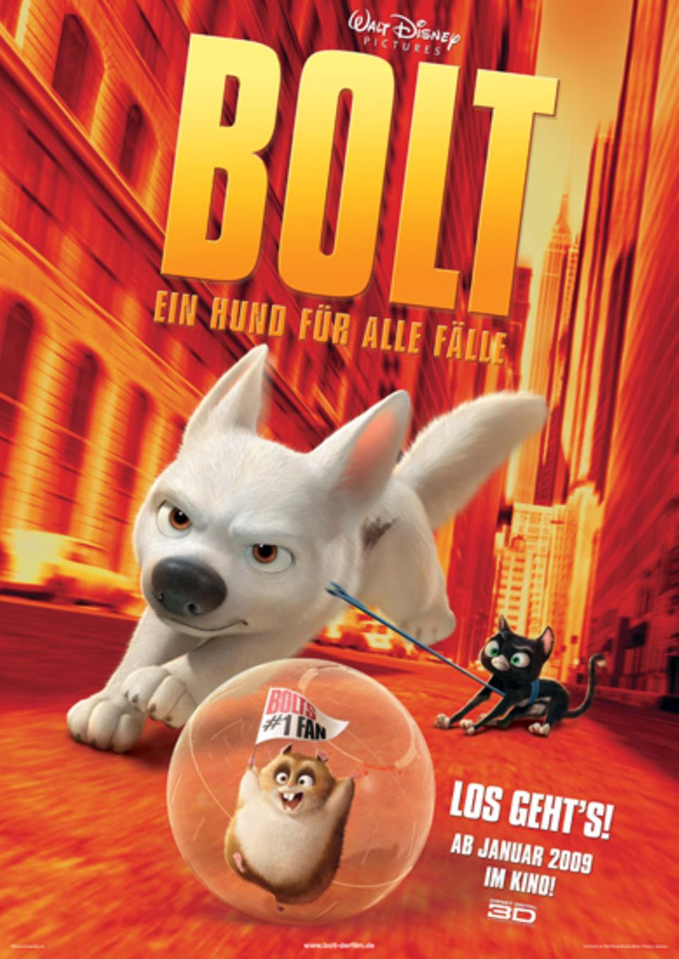 Kinotipp: Bolt - Ein Hund für alle Fälle