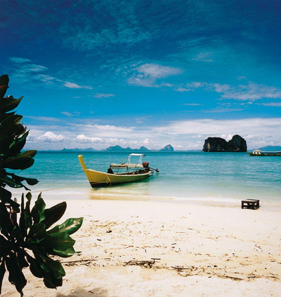Am Strand von Ko Hai ist man die meiste Zeit für sich allein und völlig ungestört