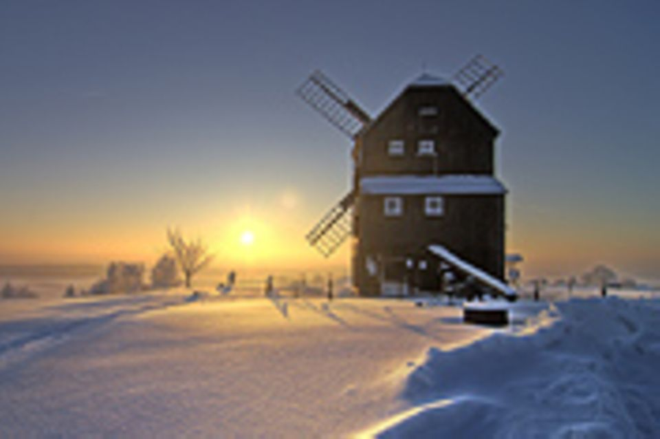 Schiebepuzzle: Nr. 47: Winter in der Oberlausitz
