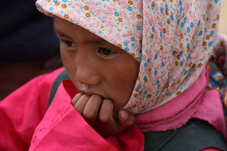 Schiebepuzzle: Nr. 48: Nomaden-Mädchen in Ladakh