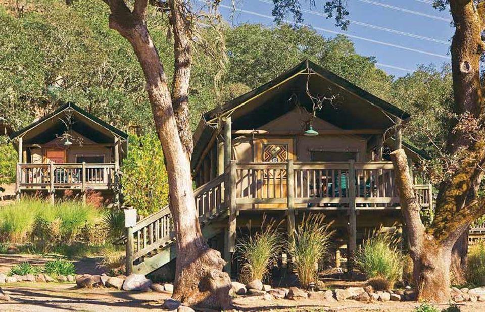 """Baumhaus im US-Privatpark """"Safari West"""""""