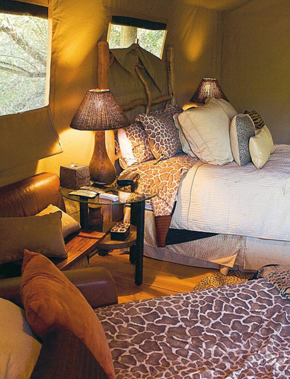Campen de Luxe: Komfortables Bett statt Luftmatratze