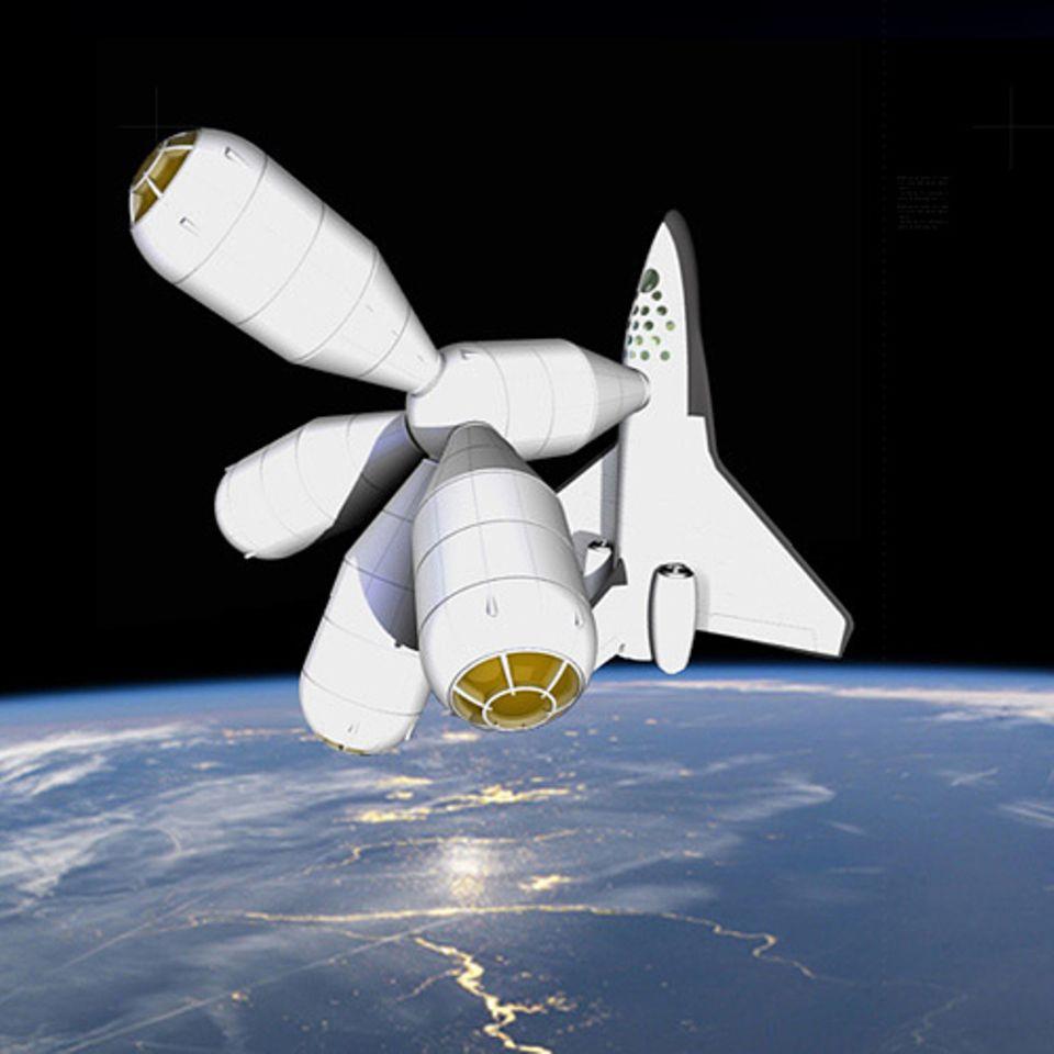 Der Weltraum-Urlaub kostet drei Millionen Euro, Transfer und Übernachtung inklusive