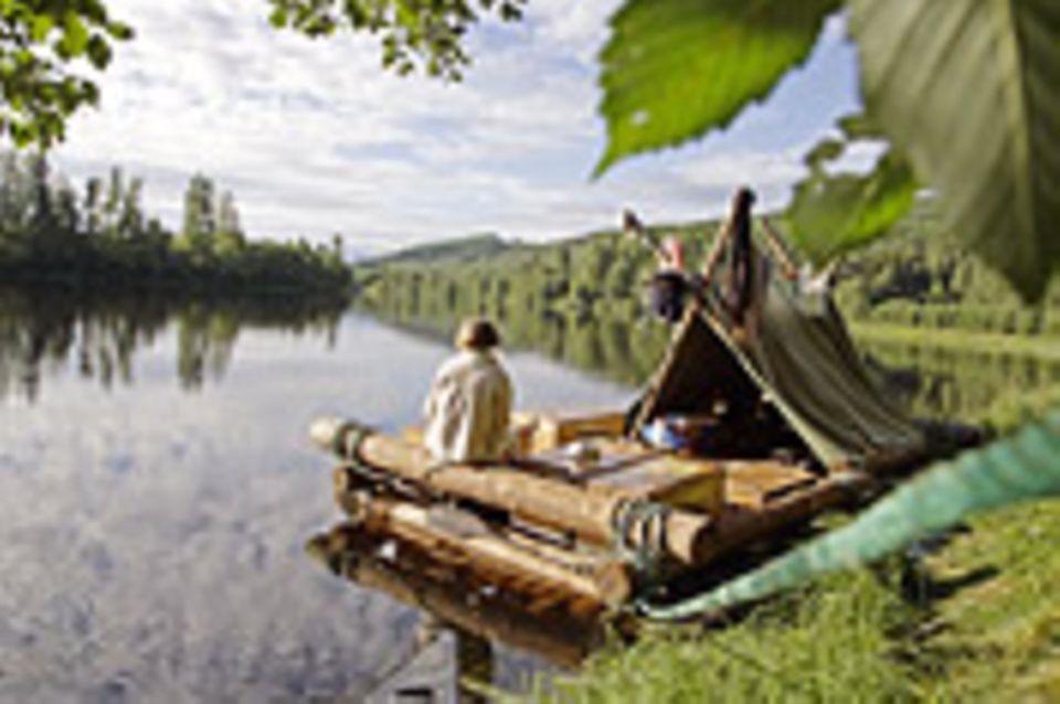 Schweden: Floßfahrt auf dem Klarälven
