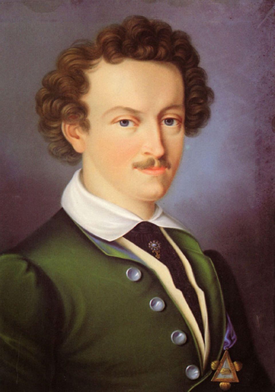Die deutsche Romantik: Ein unbekannter Künstler hat Georg Büchner um 1830 porträtiert: als jugendlichen Freimaurer