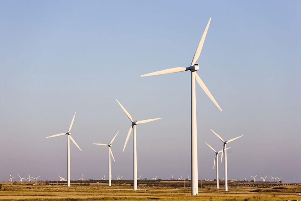 Windräder erzeugen sauberen Strom