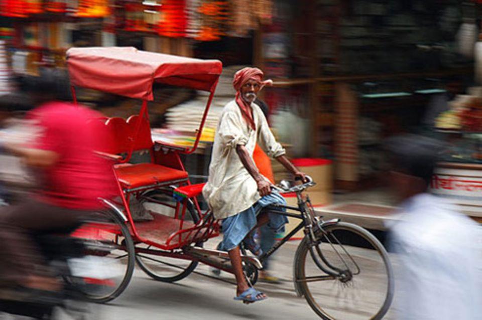 Schiebepuzzle: Nr. 155: Rikschafahrer in Haridwar