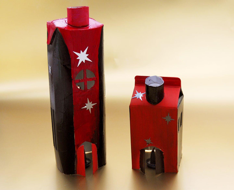 Basteltipp: Räucherhäuschen aus Getränkekartons