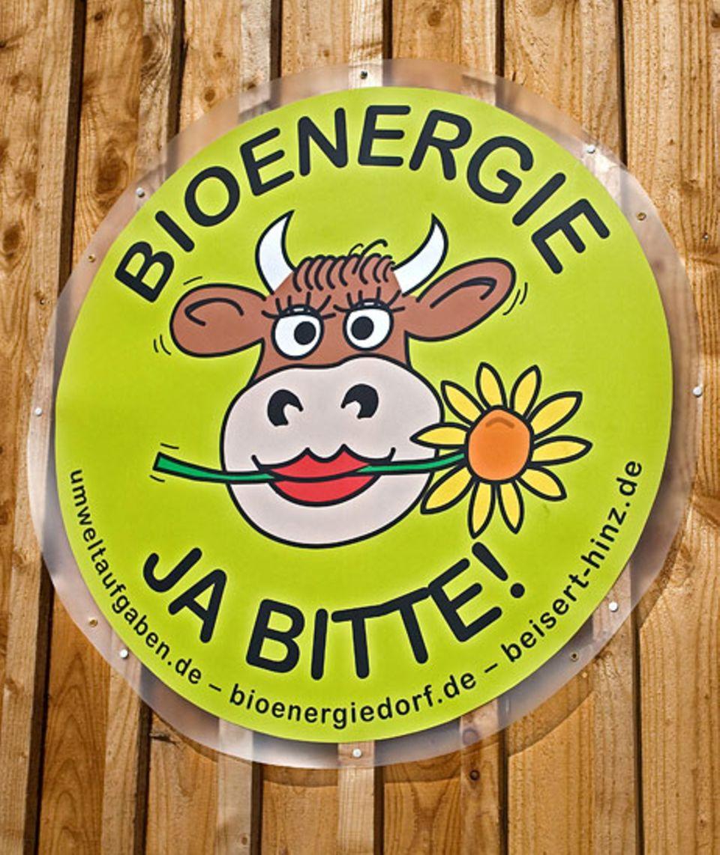 Der offizielle Aufkleber des Bioenergiedorfes Juehnde