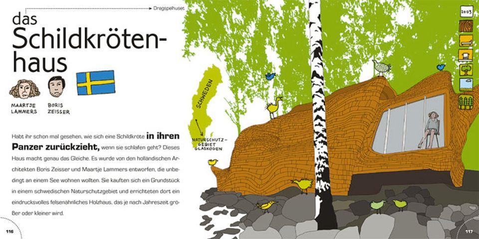 Maartje Lammers und Boris Zeisser aus Schweden haben das Schildkrötenhaus entworfen