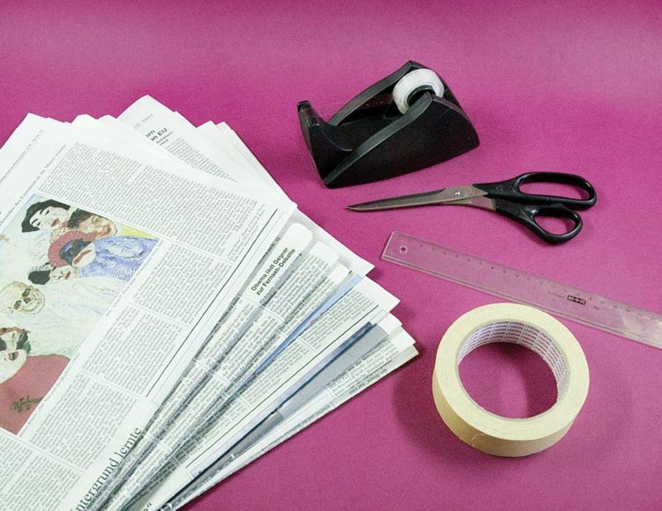 Upcycling: Sandalen aus Papier