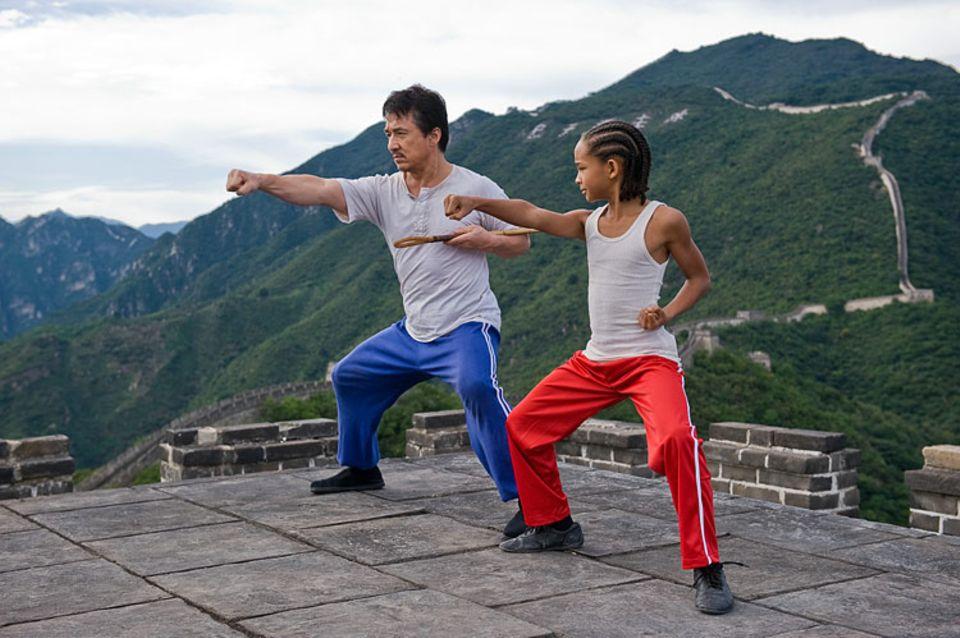 Bei Hausmeister Mr. Han lernt Dre die hohe Kunst des Kung Fu