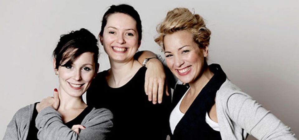 Die Magazin-Macherinnen Ana Lessing, Alexandra Bald und Esra Rotthoff (von links)