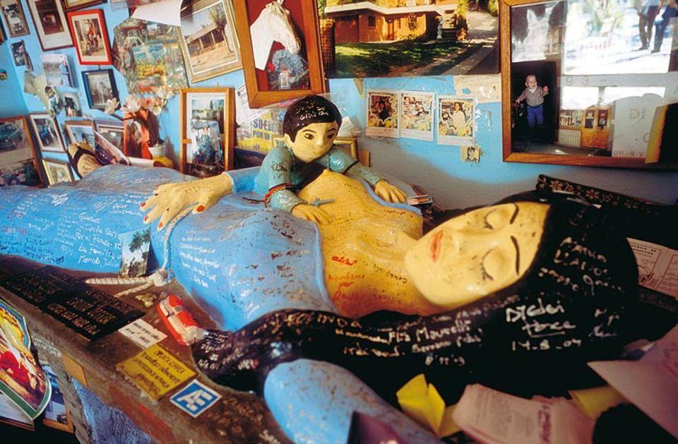 Argentinien: Dort, wo heute eine Gipsfigur liegt, soll die junge Mutter verdurstet sein