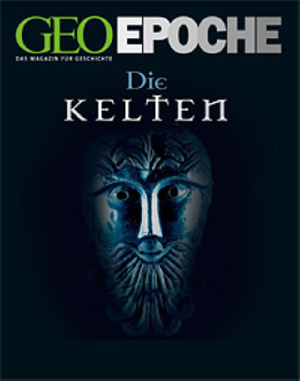 Der Kopf des keltischen Gottes schmückte um 50 v. Chr. einen silbernen Kessel, den das rätselhafte Volk für seine Kulte nutzte