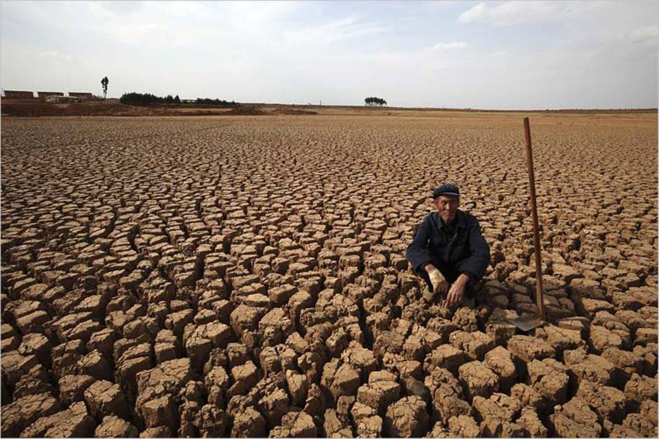 UN-Klimakonferenz: Eine Folge des Klimawandels? Dürre und Staubstürme haben den Landwirten in der chinesischen Provinz Yunnan in diesem Jahr zugesetzt wie noch nie
