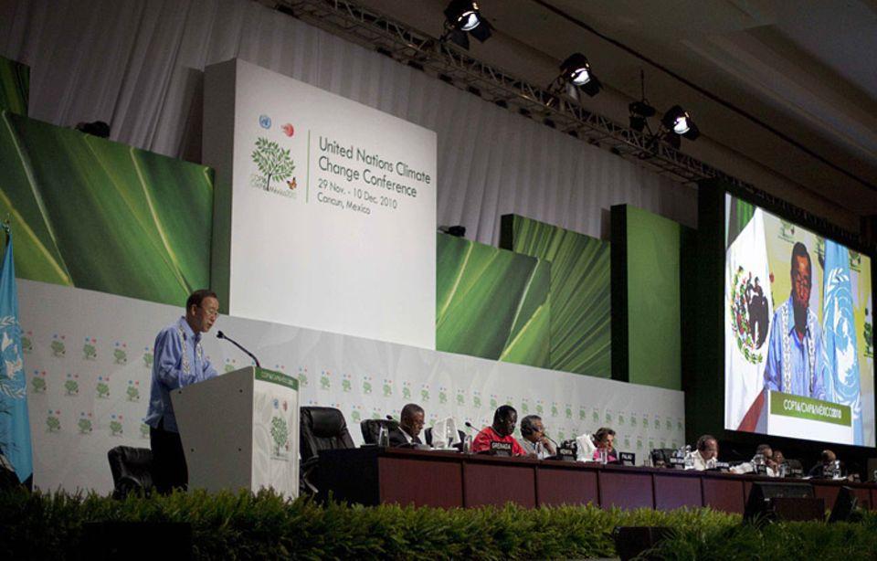 Klimaschutz: UN-Generalsekretär Ban Ki-Moon mahnt die Teilnehmer der Klimakonferenz in Cancún zum Handeln