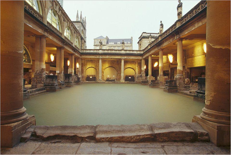 Römerbad: Ein römisches Bad in England