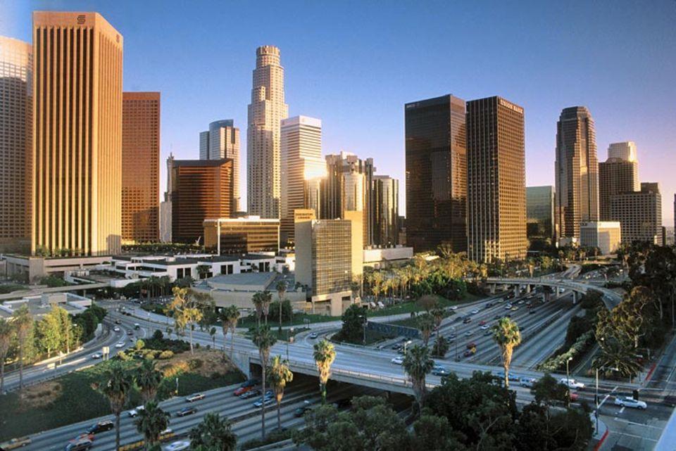 Städtereise: Die Skyline von Los Angeles im US-Bundesstaat Kalifornien