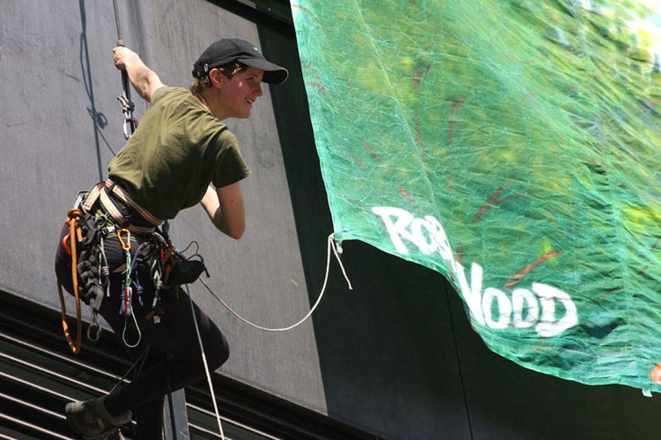 Naturtalente: Für Lecomte ist Klettern die effektivere Art zu protestieren