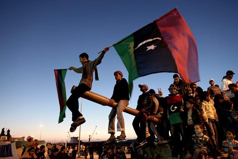 Arabien: Libyer demonstrieren gegen Machtinhaber Muammar al-Gaddafi