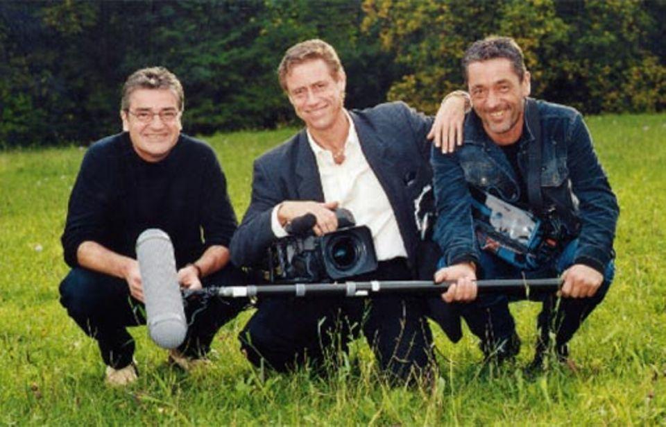 Regisseur Gernstl, Kameramann Hans Peter Fischer, Tonmann Stefan