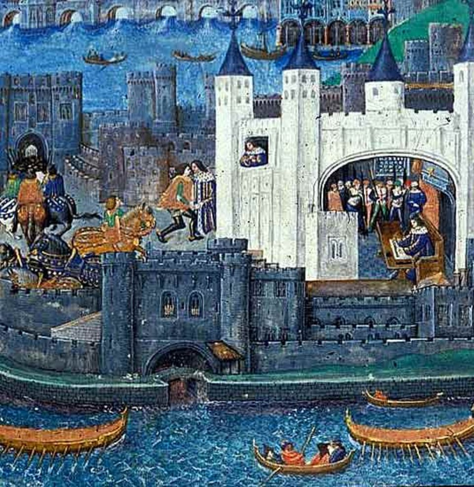 Ende des 15. Jahrhunderts ist London eine mittelgroße Ansiedlung: leicht in einer halben Stunde zu Fuß zu durchqueren, mit kaum mehr als 50 000 Einwohnern. Im Bild: der Tower