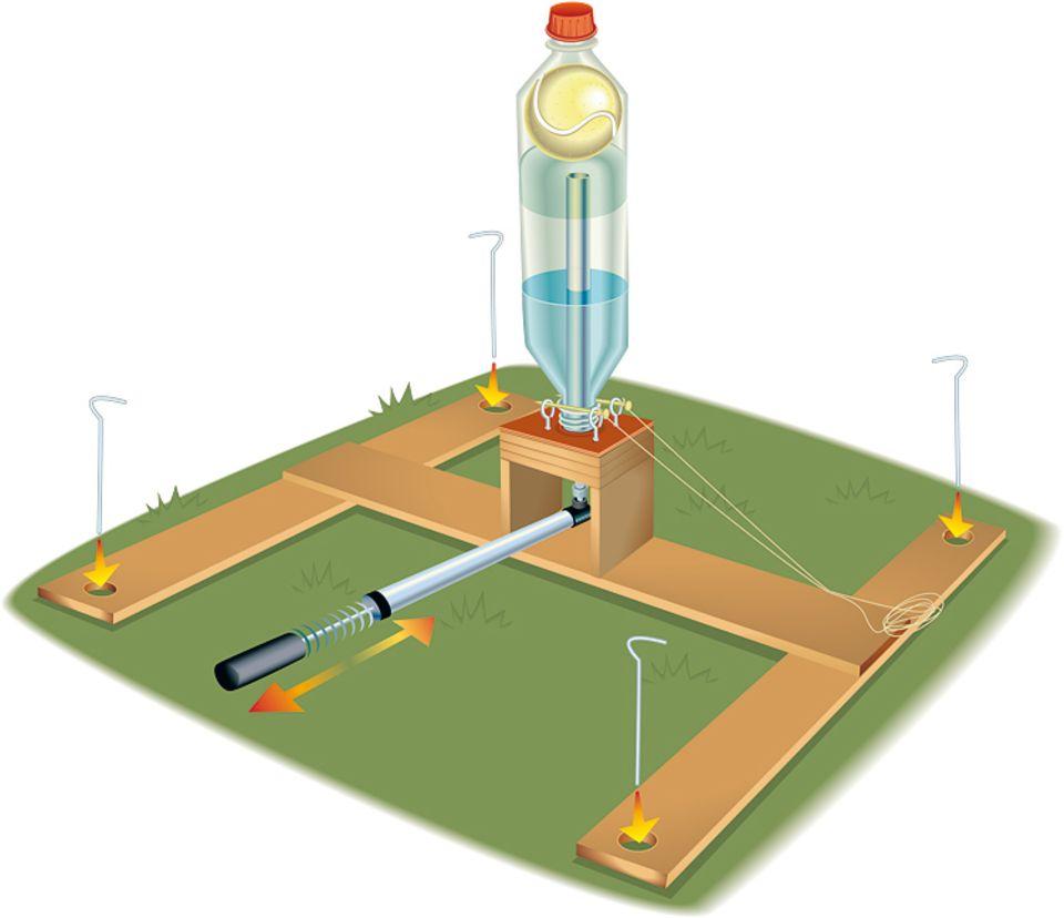 Wasserrakete basteln: Eine Rakete mit Wasserkraft