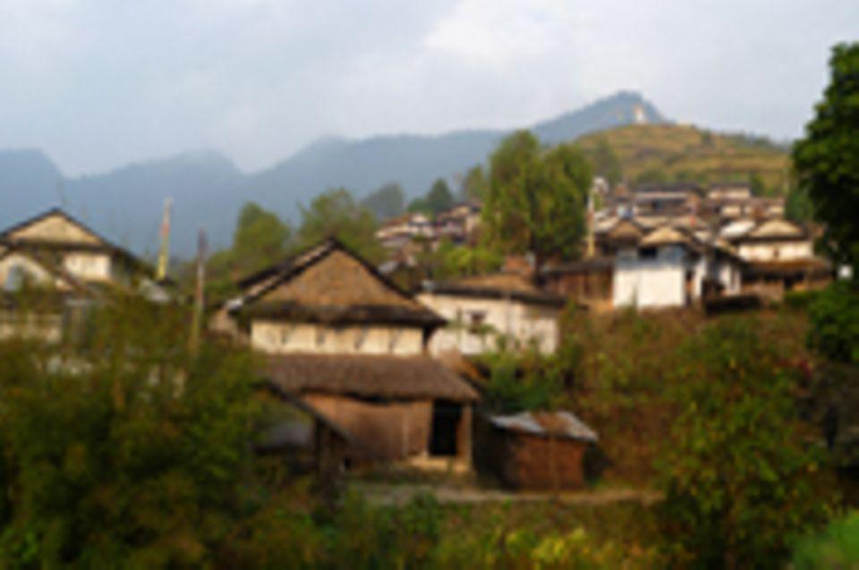 Mikrowasserkraftwerk in Pasagaun, Lamjung, Nepal
