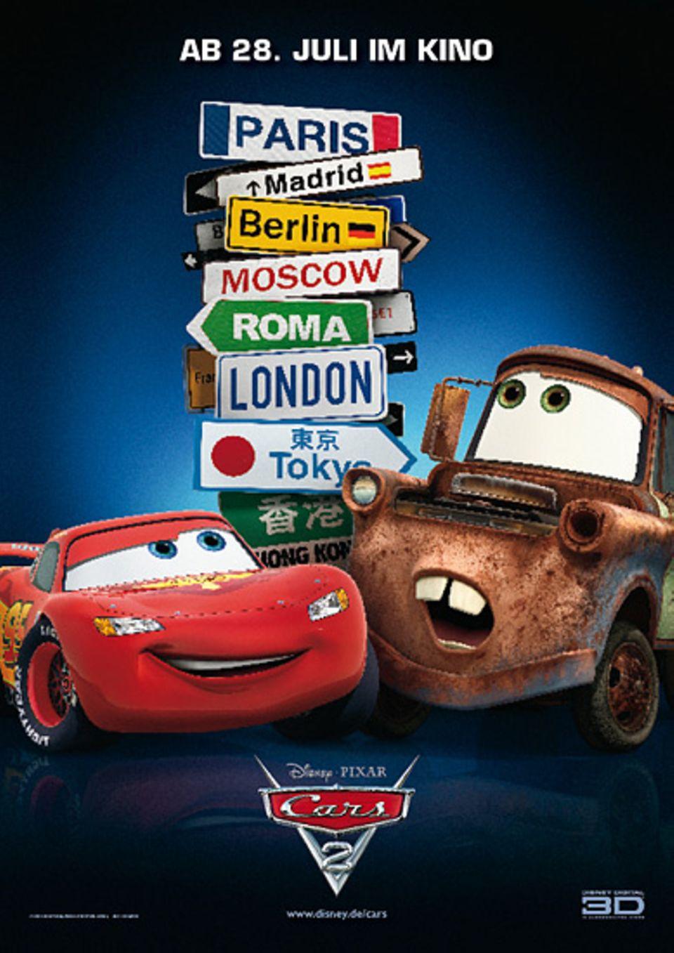 """Das offizielle Filmplakat zu """"Cars 2"""""""