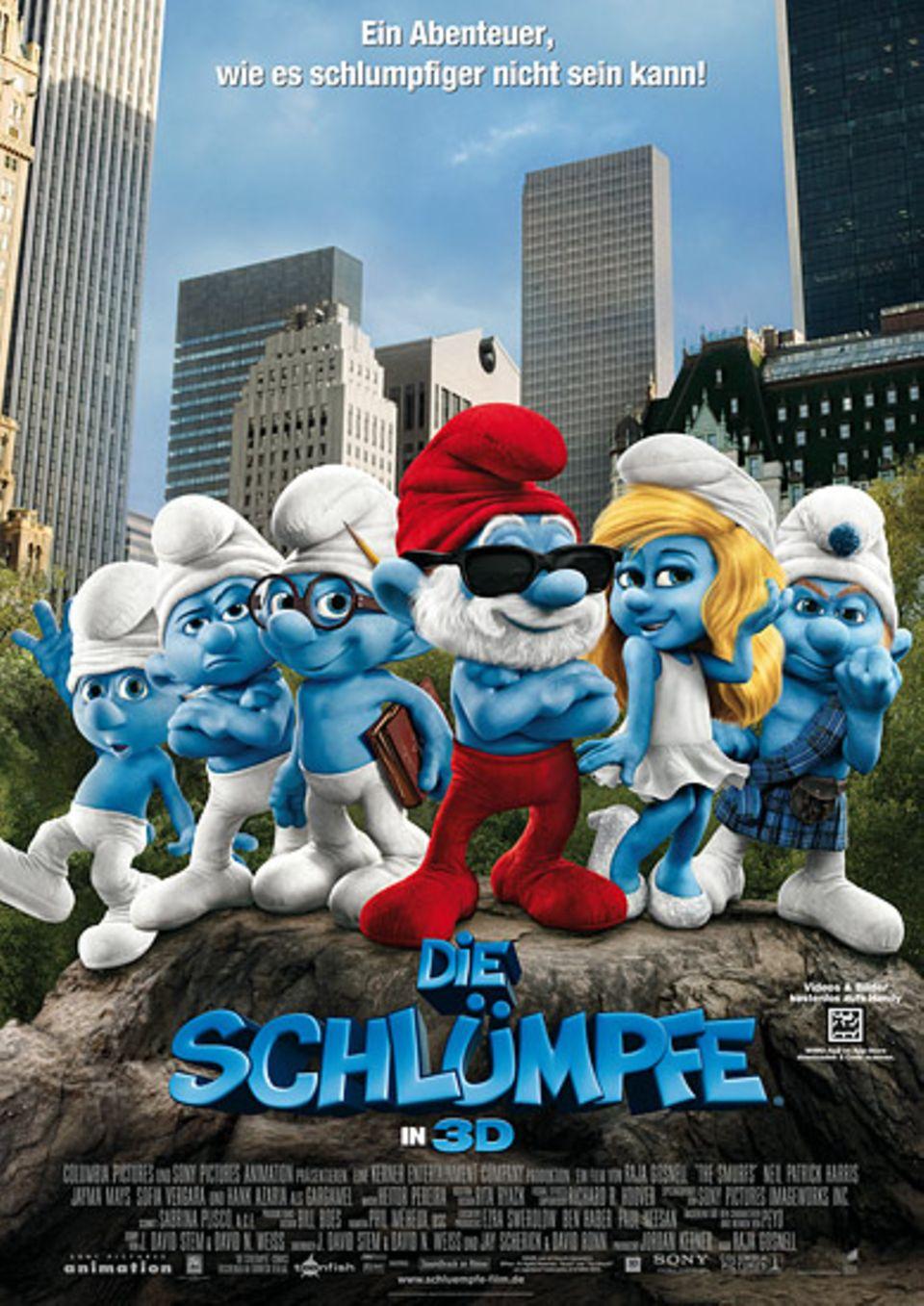 """Das offizielle Filmplakat zu """"Die Schlümpfe in 3D"""""""