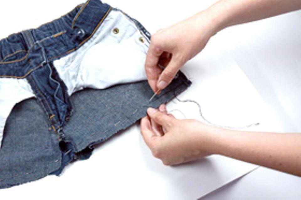 Basteltipp: Nun müssen Nadel und Faden her