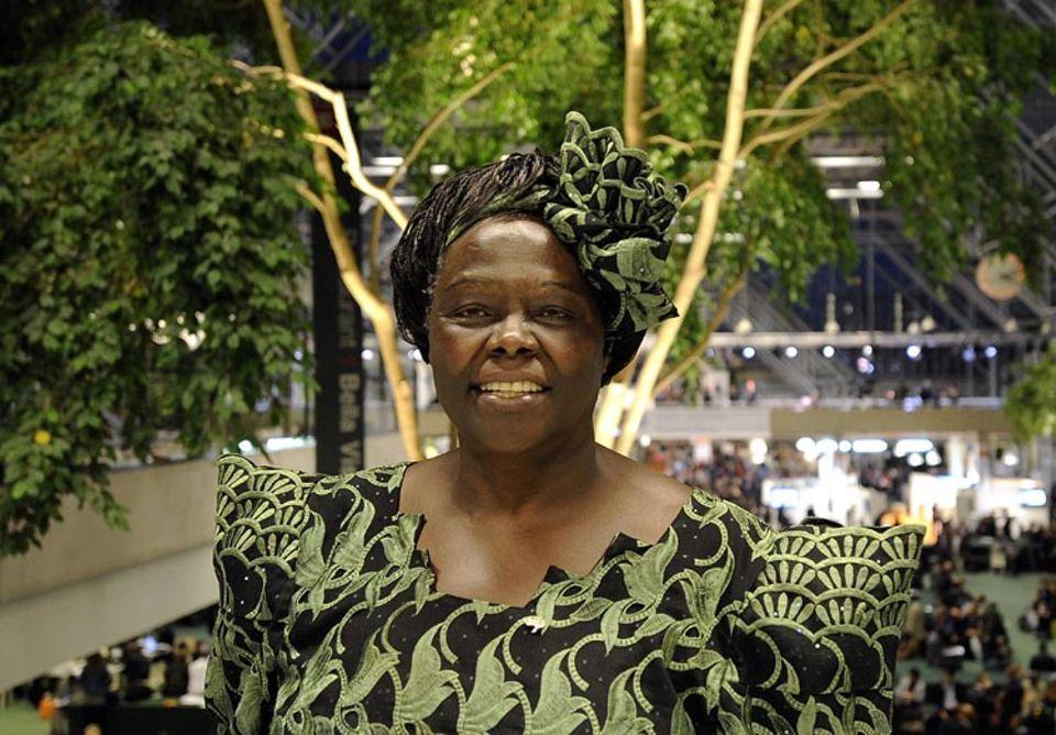 Umwelt-Ikone: Engagierte Kämpferin für Mensch und Natur in Afrika: Wangari Maathai, hier im Dezember 2009 auf der UN-Klimakonferenz in Kopenhagen