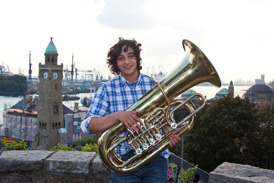 Musikinstrumente: Für Hatim Schepler ist die Basstuba das tollste Instrument
